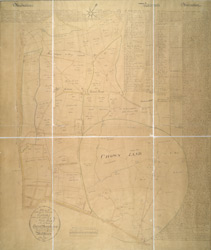 Plan of the several freehold estates situate on the north side of the New Road within the parish of Saint Mary-le-bone and parts of Hamstead and Saint Pancras in the county of Middlesex